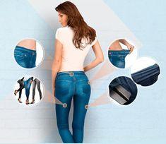 Distendono gli ammassi grassi. Distendono i glutei. Comodi da indossare tutti i giorni. Formano una silhouette attraente. #italia Jeggings, Silhouette, Slim, Jeans, Italy, Denim Pants, Denim Jeans