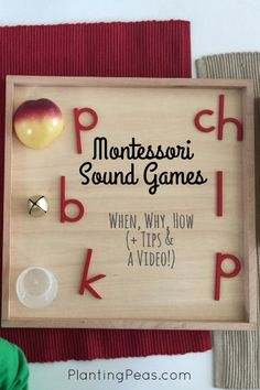 Montessori sound games -- what it is, when we started playing it, how to play it, and some tips for you (PLUS A VIDEO OF A CHILD IN ACTION). {PlantingPeas.com}