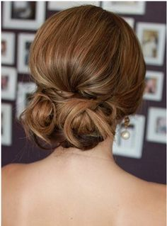 Loose Updo. Simple but I love that there is still volume.