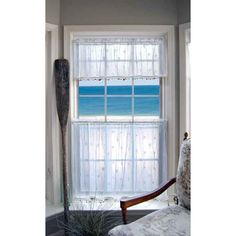 Coastal Sand Shell lace window treatments make the perfect curtains for your beach home.