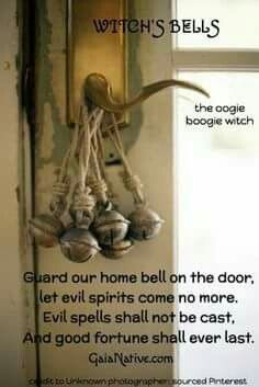 """Bell spell - I would omit the words """"evil spirits"""" from this spell, unless that is the specific problem. Always be exacting in your wording in spell work. Vague or ambiguous spells will always come back to bite you. Tarot, Magick Spells, Witch Spells Real, Real Witches, Green Witchcraft, Hoodoo Spells, Moon Spells, Pagan Witchcraft, Wiccan Witch"""