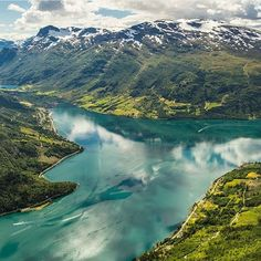 """""""This is from Mt. Hovden towards Nordfjord and Olden, Norway 