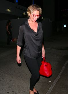 My Birkin Blog Spots | Katherine Heigl    Katherine Heigl  sports some cute red accessories while leaving Hotel Cafe with her parents a...