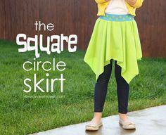 DIY quick Square circle skirt Make it Love it