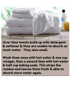 how to refresh towels...