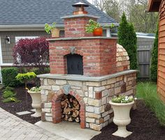 Hollenbeck Wood-Fired Outdoor Brick Pizza Oven by BrickWood Ovens