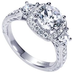 262 Best Engagement Rings With Side Diamonds Images Rings Halo