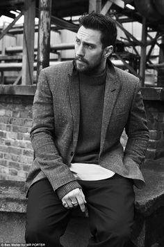 Hot property: In a brooding shoot for Mr Porter magazine, the hunky actor says: 'I get mor...