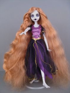 Once Upon a Zombie doll Rapunzel - I love it, but the symmetry of the mouth stitches bugs me.