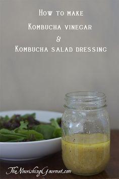 Recipe: It's easy to make kombucha vinegar! Plus get a recipe for kombucha salad dressing. Raw Food Recipes, Cooking Recipes, Healthy Recipes, Oats Recipes, Rice Recipes, Beef Recipes, Chicken Recipes, Healthy Eats, Salad Recipes