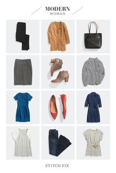 You're on-the-go! Here are the pieces you need to create the perfect foundation to your Modern Woman wardrobe.