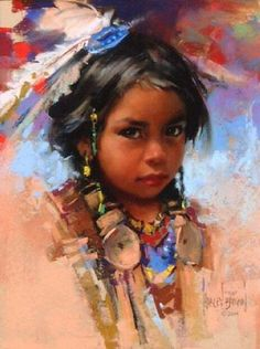 Oil on canvas by Harley Brown