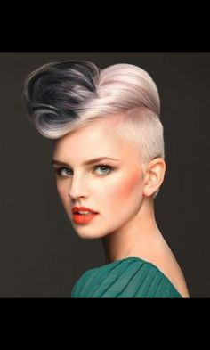 Amazing cool short blonde hair with quiff