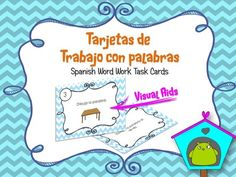 Spanish Word work Task Cards Tarjetas de trabajo con palabras Español from Teacher Resources on TeachersNotebook.com -  (9 pages)  - This resource includes 20 Task Cards for Spanish Word work. It is great to group work or centers work. Also includes a Control sheet and an Aswer cheat sheet making really easy for you to check the an