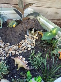 12 besten Dinosaurier-Themen-Garten-Ideen mit kreativem Design - Megan Anne Marie - Dekoration best dinosaur-themed garden ideas with creative design - Megan Anne Marie- # garden ideas diy ideas Garden Types, Diy Garden, Garden Projects, Dinosaur Garden, Dinosaur Play, The Good Dinosaur, Dinosaur Small World, Preschool Dinosaur, Preschool Garden