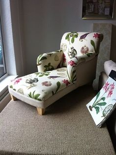 Sanderson Lounger with the new voyage of discovery fabric