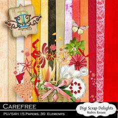 Carefree Free Digital Scrapbook Kit