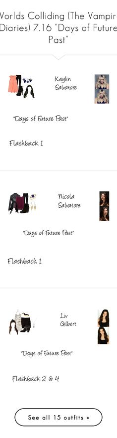 """Worlds Colliding (The Vampire Diaries) 7.16 ""Days of Future Past"""" by mysticfalls1997 ❤ liked on Polyvore featuring Gucci, Jane Norman, Lazuli, jared, J Brand, M&Co, Report, Jacquie Aiche, plus size clothing and Marni"