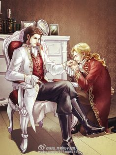 Celebrimbor and Annatar, AU <-- they kinda look like Loius and Lestat from Interview with the Vampire