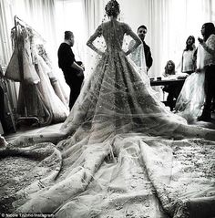 Here comes the bride: Nicole Trunfio took to Instagram on Saturday to show off an extravag...