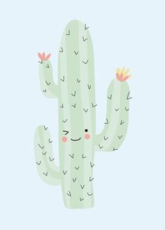 Poster cactus #design #illustration
