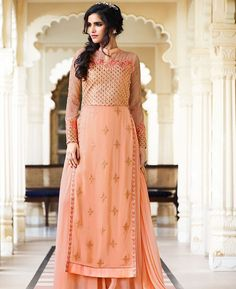 Buy Shapely Orange Designer Salwar Kameez online at  https://www.a1designerwear.com/shapely-orange-designer-salwar-kameez-2  Price: $58.05 USD
