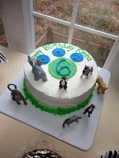 Wild Kratts theme birthday cake