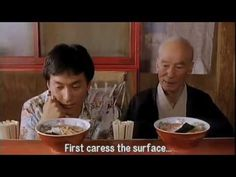 "How to eat ramen, a scene from ""Tampopo"""