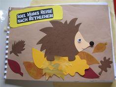 Kindergartenkinder basteln ein eigenes Igel Mum - Buch