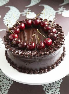 Chocolate Cake with Port-Soaked Cherries Recipe
