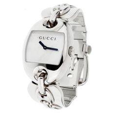 Gucci Watches - Shop designer fashion at Tradesy and save 70% off or more on fashion accessories. Gucci Watches For Men, Gucci Accessories, Vintage Gucci, Stainless Steel Watch, Bangles, Black And White, Personalized Items, Pearls, Chain