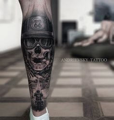 Tattoo Sergey Andrievskiy - tattoo's photo In the style Black and grey, Male, Biker's, Skul Lion Head Tattoos, Biker Tattoos, Military Tattoos, Male Leg Tattoos, Tatoos, Lion Tattoo Sleeves, Wolf Tattoo Sleeve, Tattoo Sleeve Designs, Thigh Tattoo Men