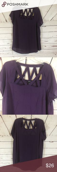 42bf46864e5 New Torrid Purple Cut Out Blouse size 1X 1 NWT New Torrid Purple Cut Out  Blouse