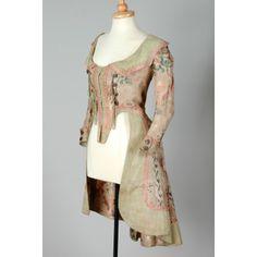 Leeds Museum item 1949.8.91, 1770s silk Caraco Nora Waugh