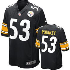 f47591049390 Nike NFL Pittsburgh Steelers (Troy Polamalu) Kids  Football Home Game  Jersey Size Medium (Black) - Clearance Sale