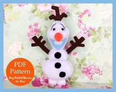 A personal favorite from my Etsy shop https://www.etsy.com/listing/257167663/olaf-doll-frozen-pdf-pattern-and