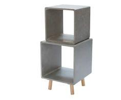 Scaffale girevole a 2 moduli in mdf e legno Grenoble grigio