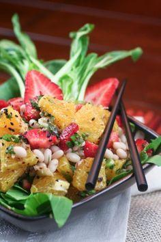 Orange, Strawberry and Navy Bean Salad