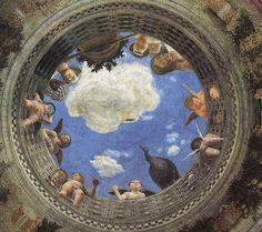 Andrea mantegna camera degli sposi a putto on the for Mantova palazzo ducale camera degli sposi