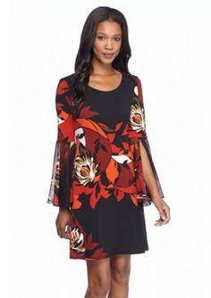 MSK  Floral Printed Shift Dress
