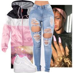 A fashion look from March 2018 featuring H&M jackets and NIKE sneakers. Browse and shop related looks.