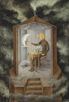 Remedios Varo Uranga was a Spanish-Mexican para-surrealist painter and anarchist. She was born María de los Remedios Alicia Rodriga Varo y Uranga in Anglès, a small town in the province of Girona, Spain in 1908 Art And Illustration, Illustrations Posters, Dorothea Tanning, Inspiration Art, Salvador Dali, Fine Art, Art Design, Surreal Art, Oeuvre D'art