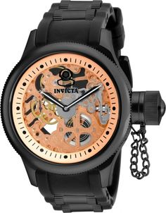 INVICTA Russian Diver Men 52mm Polyurethane + Stainless Steel Black + Gold Black dial 8040.N Quartz