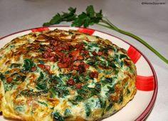 Receta Tortilla de espinacas con taquitos de jamón HortoGourmet/Spinach omelette with ham