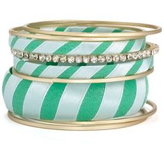 green stripe bangles