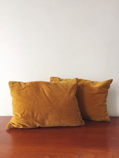 Vintage Mustard Yellow Throw Pillow . Bohemian by ohcomelyvintage