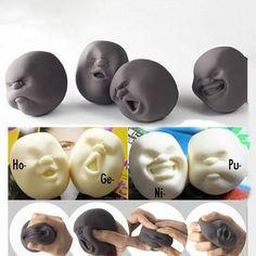 인간의 얼굴 감성의 벤트 볼 장난감 수지 편하게 인형 성인 스트레스 완화 참신 장난감 안티 스트레스 재미 볼 선물