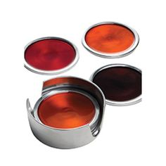 New colour for 2014 - this set of 6 Fair Trade Recycled Aluminium Coasters features two red, two gold and two brown.