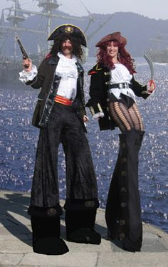 Luci's Pirate Stilt Walkers