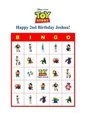 Toy Story Birthday Party Game Bingo Cards